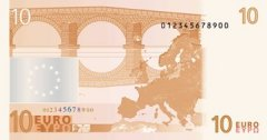 Back of 10 Euro Banknote